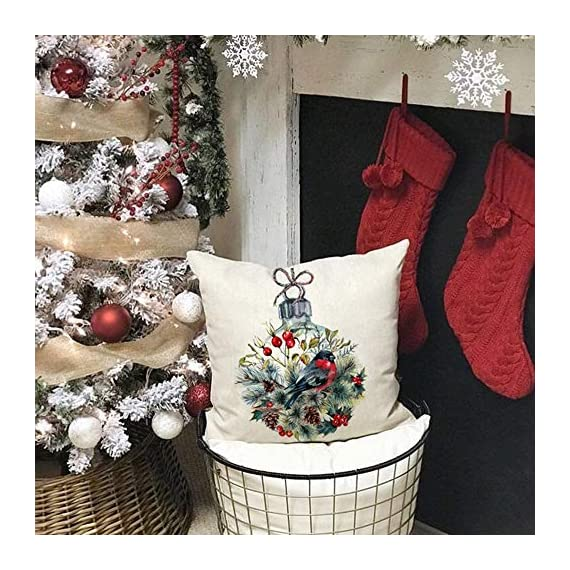 AENEY Farmhouse Christmas Pillow Covers 18x18 inch Set of 4 for Home Decor Farmhouse Christmas Decor Christmas Pillows Christmas Decorations Throw Pillow Covers - Great Addition for Christmas Decor : Our christmas pillow cover can help you to change christmas decorations quickly. Unique christmas element design match the christmas decor very well. Great Holiday Gift : Perfect farmhouse style christmas decorations are a holiday necessity for your family and friends. Comfortable, Durable and Well Made : Excellent breathable linen fabric and handmade make it comfortable, durable, beautiful. Machine washable and the hands washable. The pattern does not fade. Hight quality hidden zipper to meet an elegant look. - patio, outdoor-throw-pillows, outdoor-decor - 61XDHz5nsgL. SS570  -