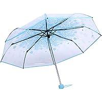 Paraguas Plegables Resistente al Viento, Paraguas Transparente Mujer