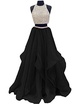 inmagicdress Two Pieces Prom Dresses Oragnza Keyhole Back Women Evening Dress 09