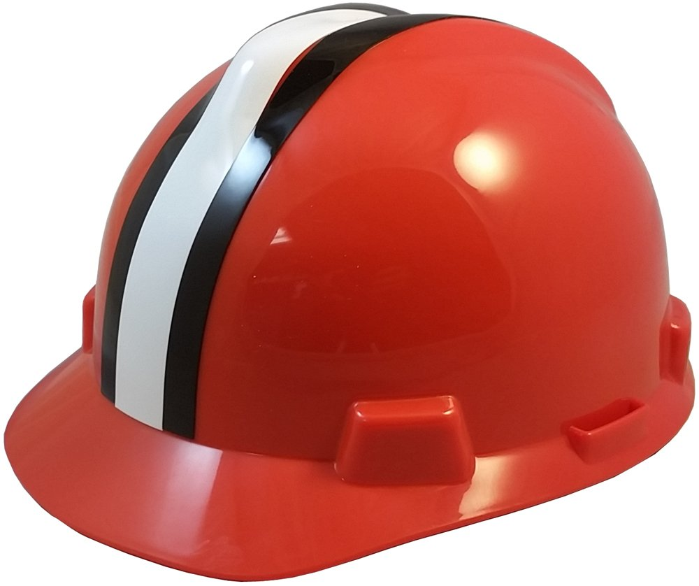 MSA NFL Ratchet Suspension Hardhats - Cleveland Browns Hard Hats