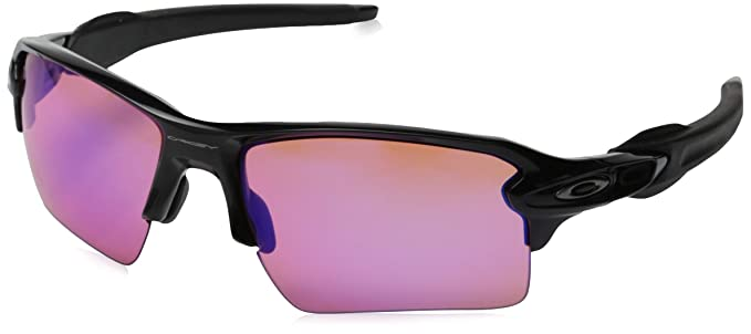 99129f384e Amazon.com  Oakley Mens Flak 2.0 Sunglasses Black Prizm Trail ...