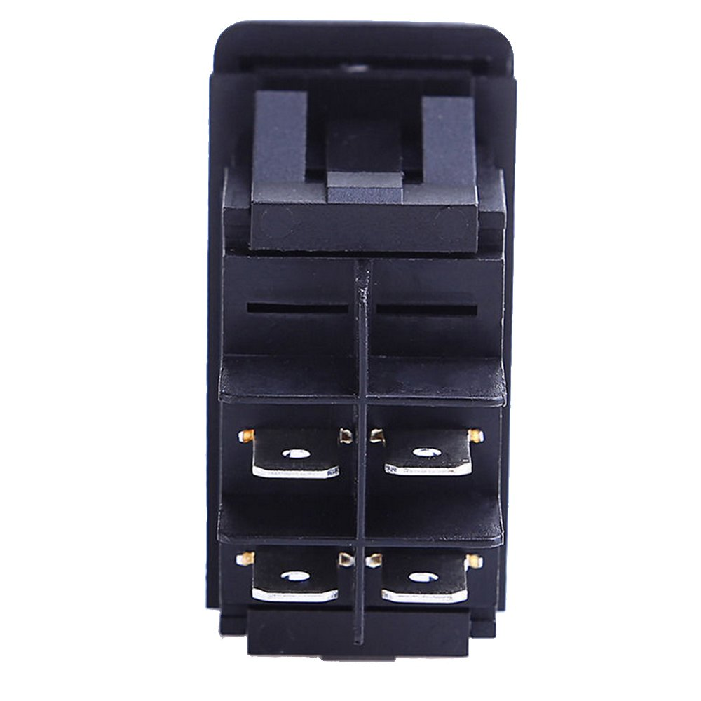 4 Pin Led Rocker Switch Wiring Diagram Diagrams Box Four Position Toggle Amazon Com E Support Car Marine Blue Dash 4pin 125vac