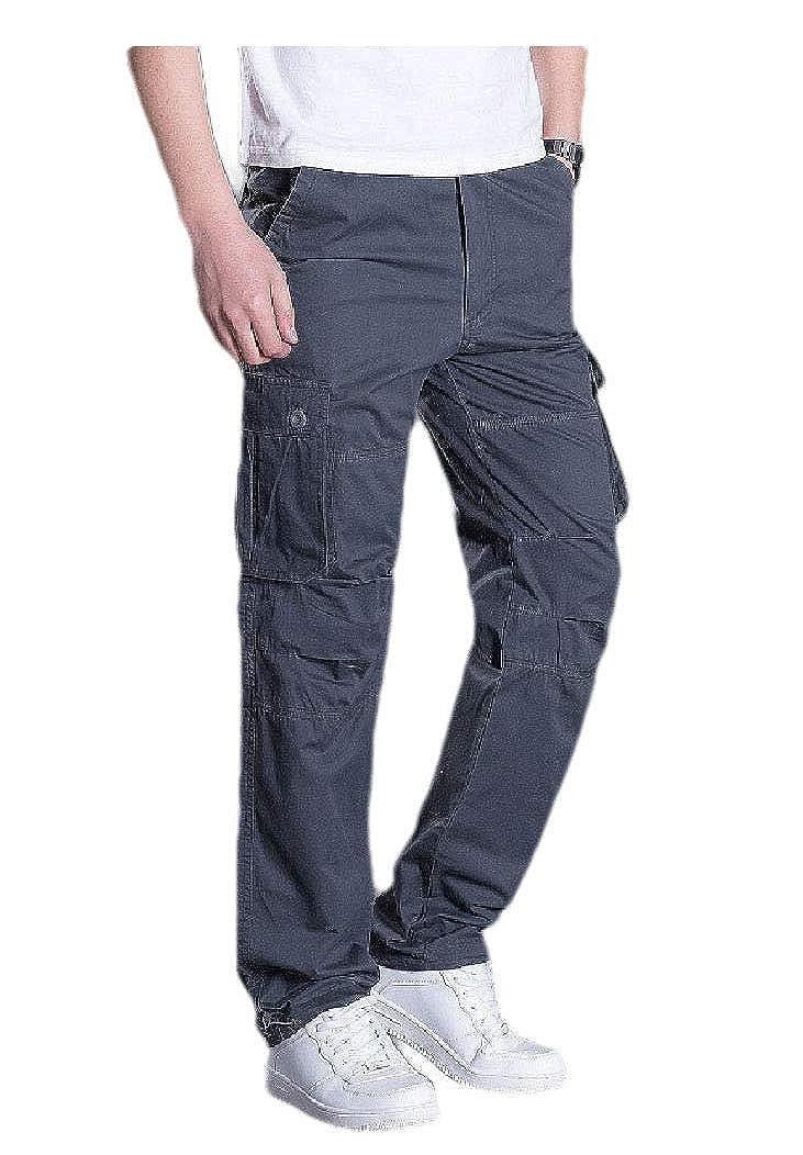 FreelyMen with Side Pockets Stylish Combat Karate Pants