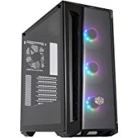 Cooler Master MasterBox MB520 ARGB E-ATX Case, 3 ARGB Fans, DarkMirror Front Panel, Mesh Intakes, Tempered Glass Side…