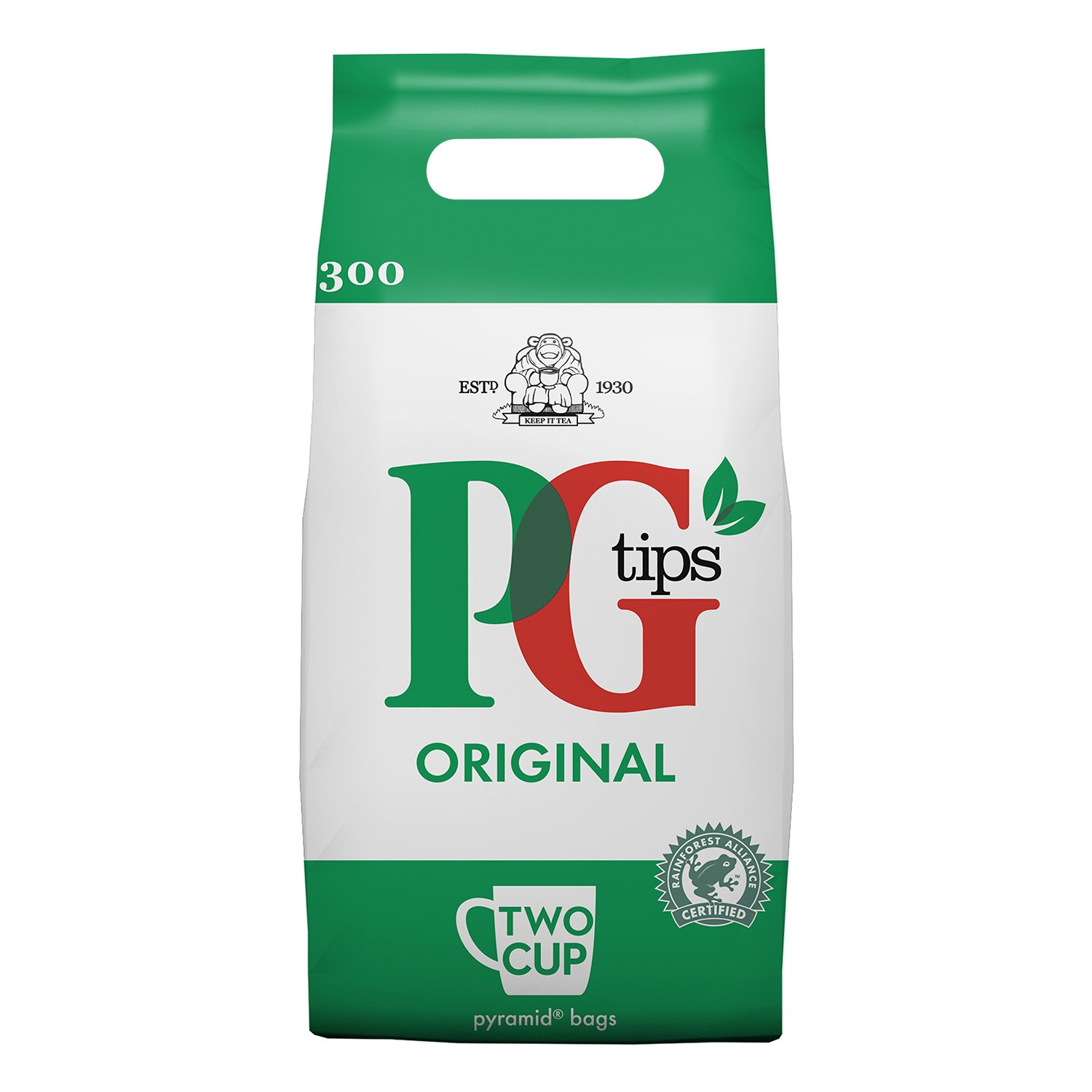 PG Tips Tea Bags 2 Cup 750G - 300 Tea Bags (Pack Of 8)