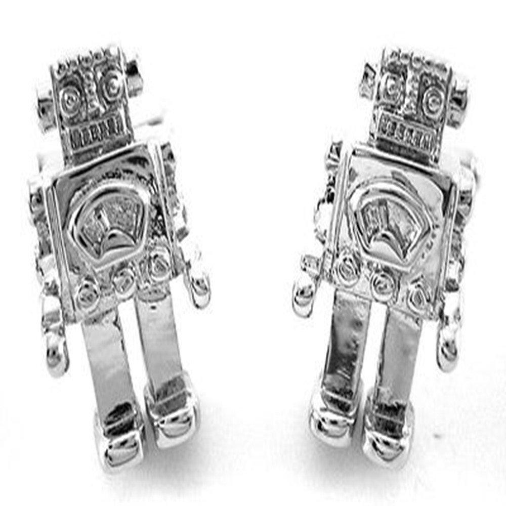 Robot Mechanic Machine Android Gift Wedding cufflinks + Free Box & Cleaner