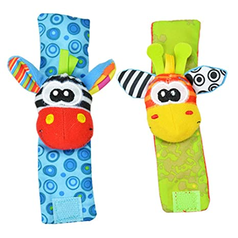 buynice Lovely Infant Baby Foot Socks Rattles Toys by