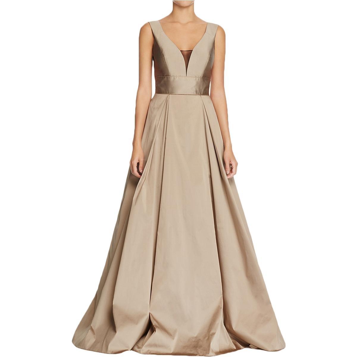 Aidan Mattox Womens Taffeta Mesh Inset Party Dress at Amazon Women\'s ...