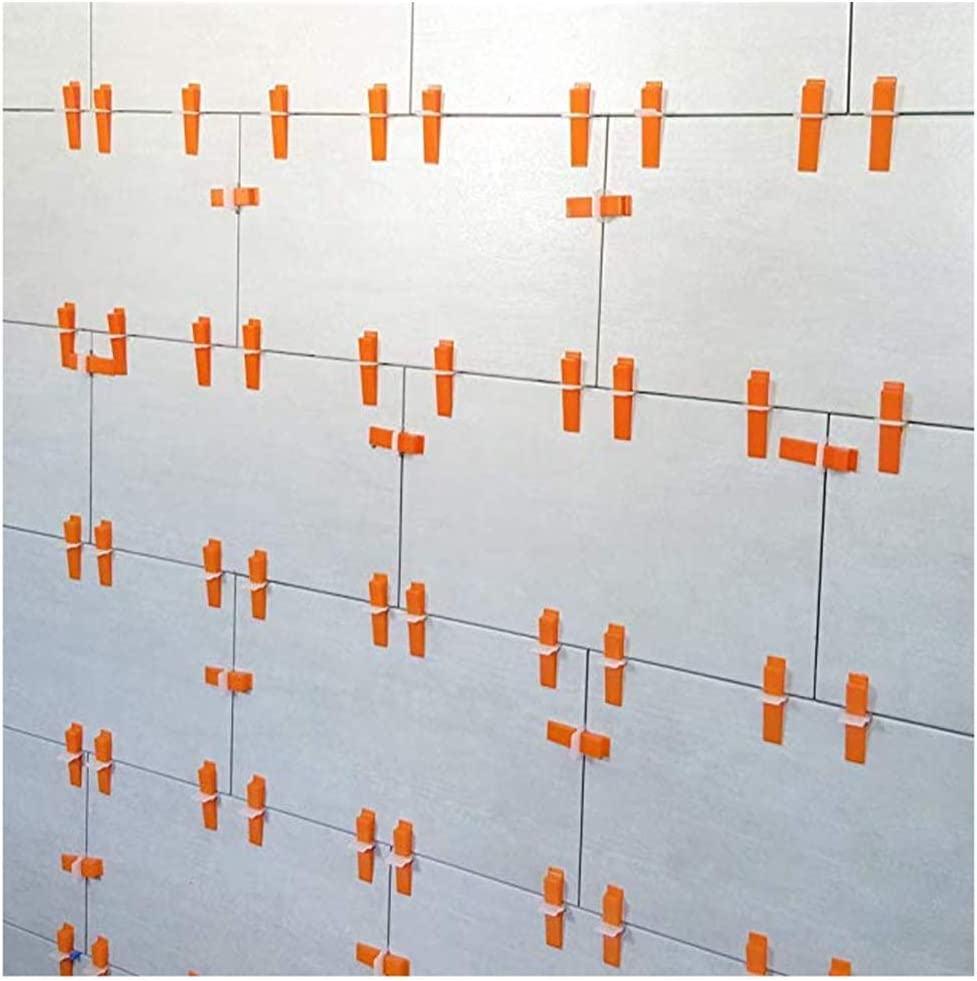 Paiker Tile Leveling System Clips 1//16 DIY Tiles Leveler Spacers Wall Positioning Tools 300pcs Leveling Spacer Clips Plus 100pcs Reusable Wedges 1pc Plies