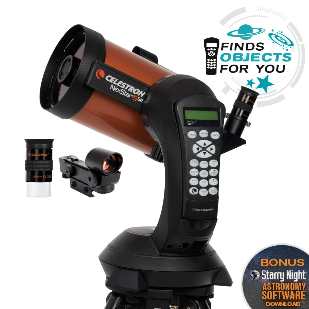 Celestron - NexStar 5SE Telescope - Computerized Telescope for Beginners and Advanced Users - Fully-Automated GoTo Mount - SkyAlign Technology - 40,000+ Celestial Objects - 5-Inch Primary Mirror by Celestron