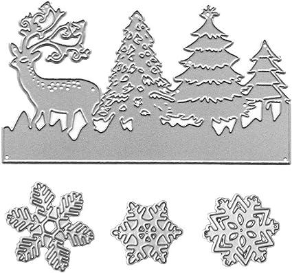 Metal Cutting Dies Snowflake Scrapbooking Deer Animal Embossing Stencils Templat