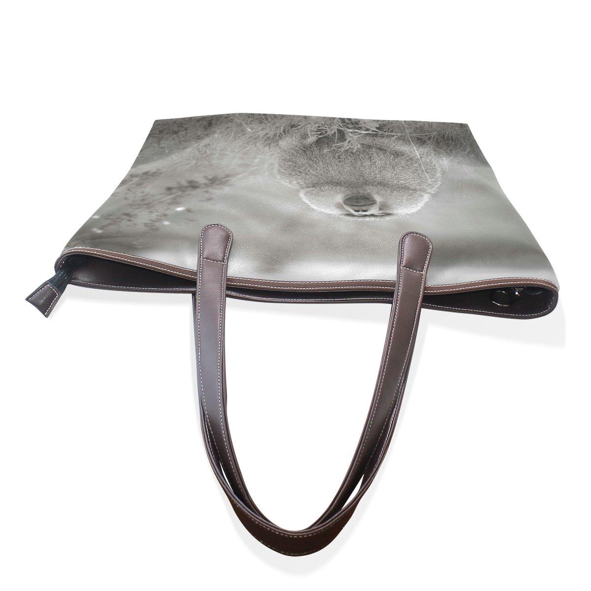 Ye Store Orangutans Lady PU Leather Handbag Tote Bag Shoulder Bag Shopping Bag