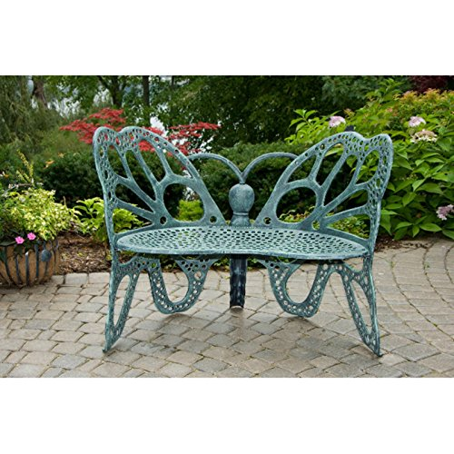 Flowerhouse Metal Garden Butterfly Bench Outdoor Benches Patio And Furniture