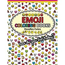 Emoji Coloring Books Doodle Cute: Funny Stuff Awesome Designs for Boys, Girls, Teens & Adults