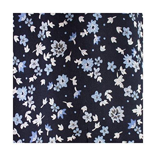 Chemisier grande taille bleu marine motif fleur
