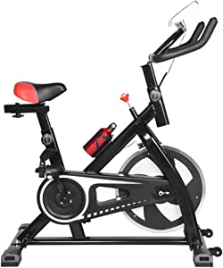 TUTAVIAW Exercise Bike, Indoor Fitness Bike Ultra-quiet Exercise Bike for Gym Home Bicycle Cardio Workout Machine Training Fitness Equipment