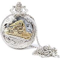 wsloftyGYd - Reloj de Bolsillo con Cadena de Cuarzo Envejecida, diseño clásico de Tren de Vapor