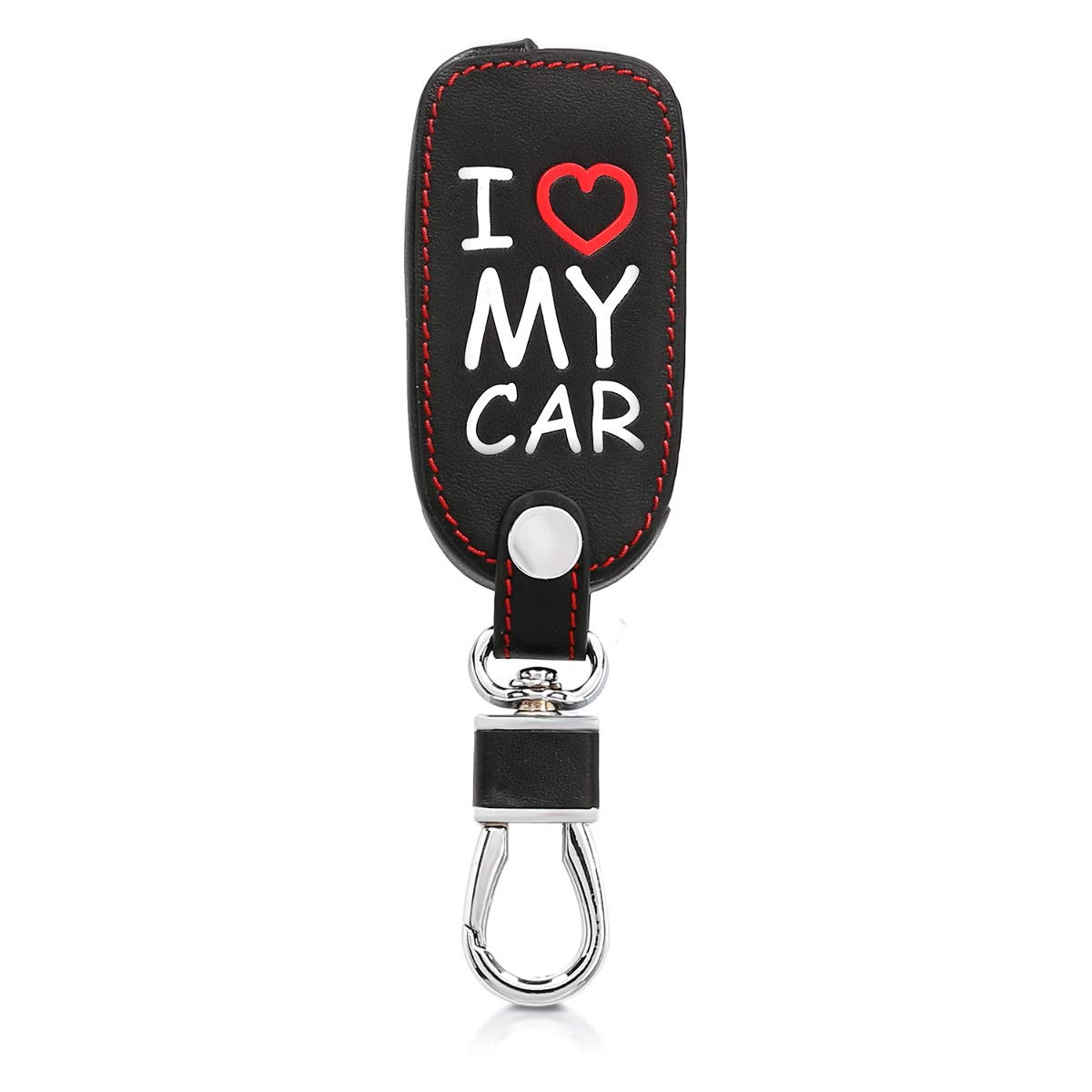 Cubierta de Cuero sint/ético - Case para Mando y Control de Auto en kwmobile Funda para Llave de 3 Botones para Coche VW Skoda Seat Antracita
