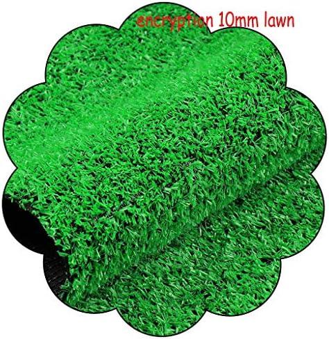 XEWNEG 10ミリメートルグリーン人工ターフ、ノンスリップ、防水快適な暗号化は、ウォールバルコニーの庭の装飾、偽物芝生ペットマット、幅2メートルの場合は、カットすることができます (Size : 2x3M)