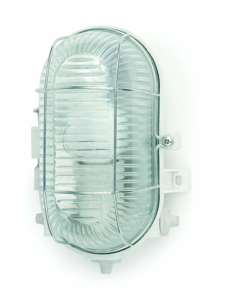 Faro Barcelona Cripta 71002 - Aplique, 60W, pvc, metal y cristal rallado, color blanco