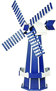 product image for DutchCrafters Decorative Poly Two-Tone Windmill (Large, Patriot Blue/White)