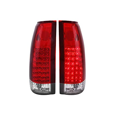 Anzo USA 311004 Chevrolet Red/Clear LED Tail Light Assembly - (Sold in Pairs): Automotive