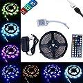 eBoTrade Strip Light, 16.4ft 5M Flexible Strip 300 LEDs Color Changing Light Strip Kit