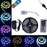 LED Strip Light (5M 3528) + 44 Key IR Remote Control + 12V Power Supply