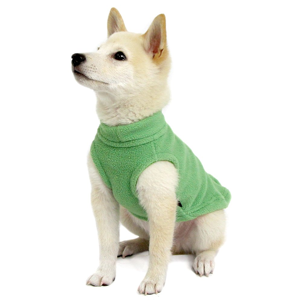 Gooby Stretch Fleece Pull Over Cold Weather Dog Vest, Grass Green, Medium