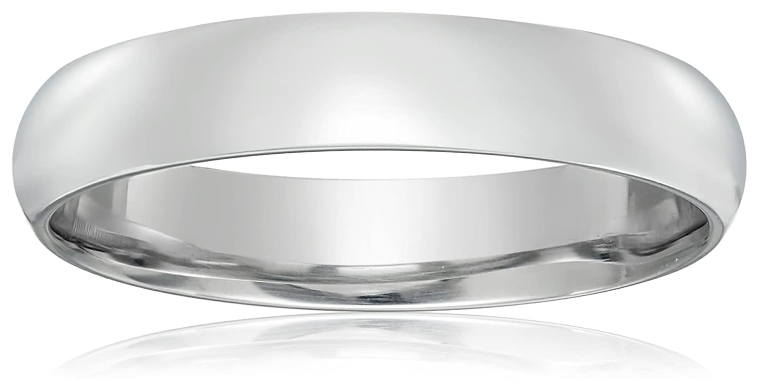 wedding band width domed plain fields gold white solid fit bands stellar comfort products platinum
