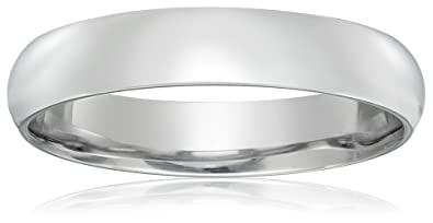Mens platinum traditional plain wedding band with luxury high classic fit platinum band 4mm size 4 junglespirit Gallery