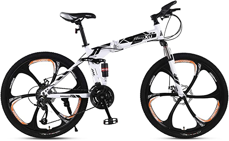 Dapang Bicicleta de montaña 21/24/27 Velocidad Marco de Acero 24 Pulgadas Ruedas Plegables de 3 radios Bicicleta Plegable,2,24speed: Amazon.es: Hogar