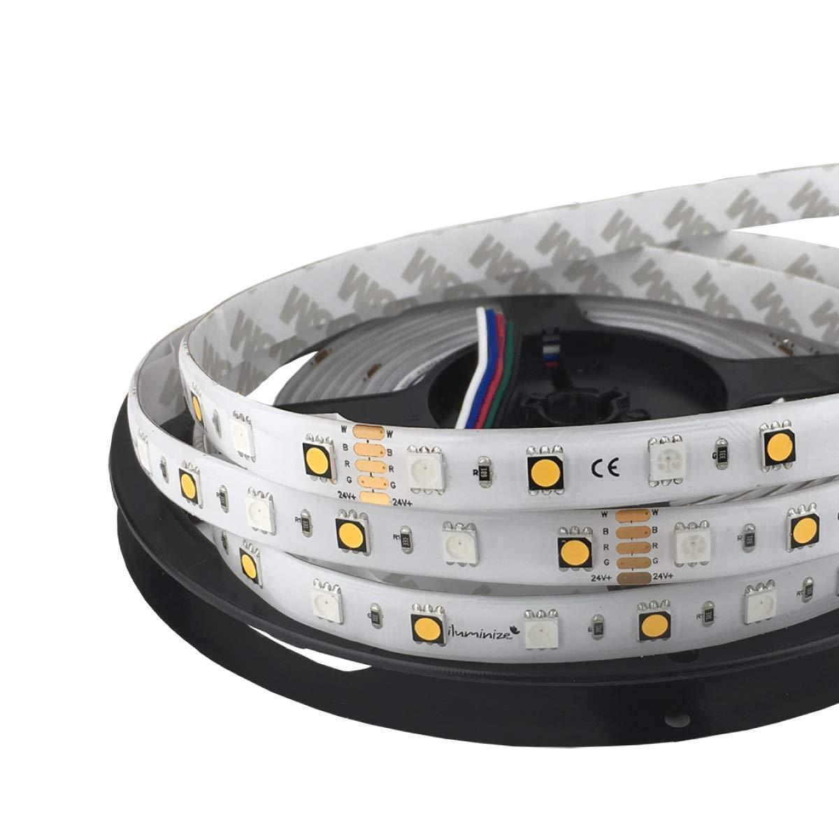 Iluminize LED-Streifen RGB+W  sehr hochwertiger LED-Streifen RGB+W (2700K Ra 95) mit 60 LEDs pro Meter, hoch selektiert, 24V, 16,5W pro Meter (IP55 Gel Rolle 5m)