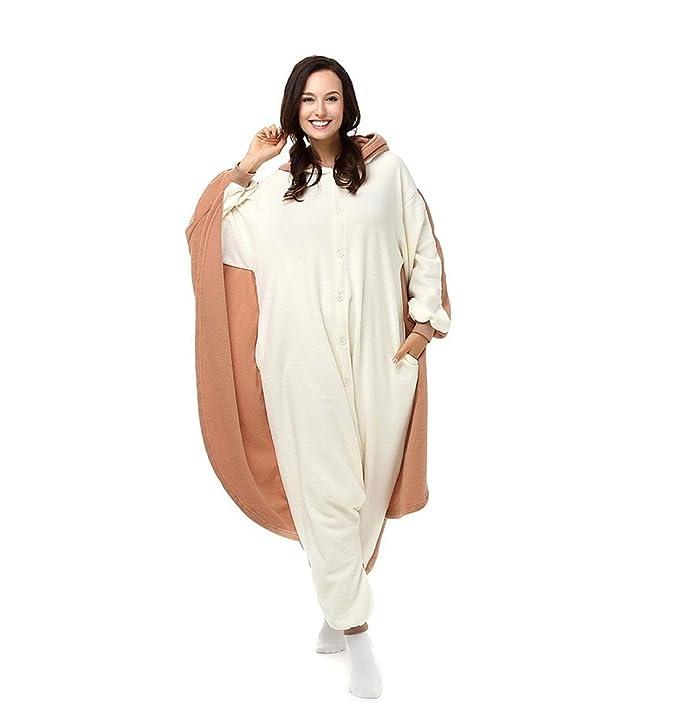 Amazon.com : HYY@ Kigurumi Pajamas Squirrel / Mouse Leotard/Onesie Halloween Animal Sleepwear White Patchwork Polar Fleece Kigurumi UnisexHalloween : Sports ...