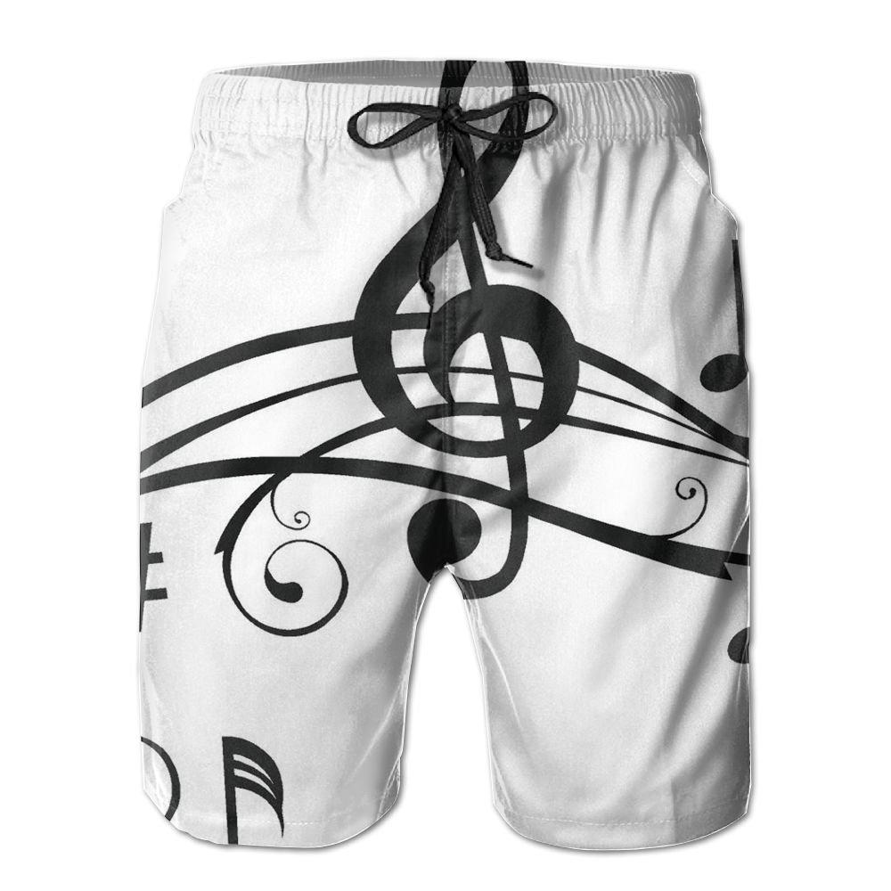 YOIGNG Boardshorts Guitar Music Symbol Mens Quick Dry Swim Trunks Beach Shorts