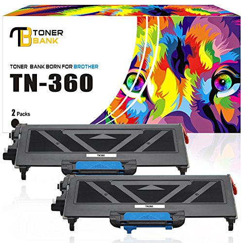 Toner Bank Compatible Toner Cartridge Replacement for Brother TN360 TN-360 TN330 (Black, 2-Packs),Compatible with Brother HL-2170W HL-2140 MFC-7840W MFC-7340 MFC-7440N DCP-7040 DCP-7030