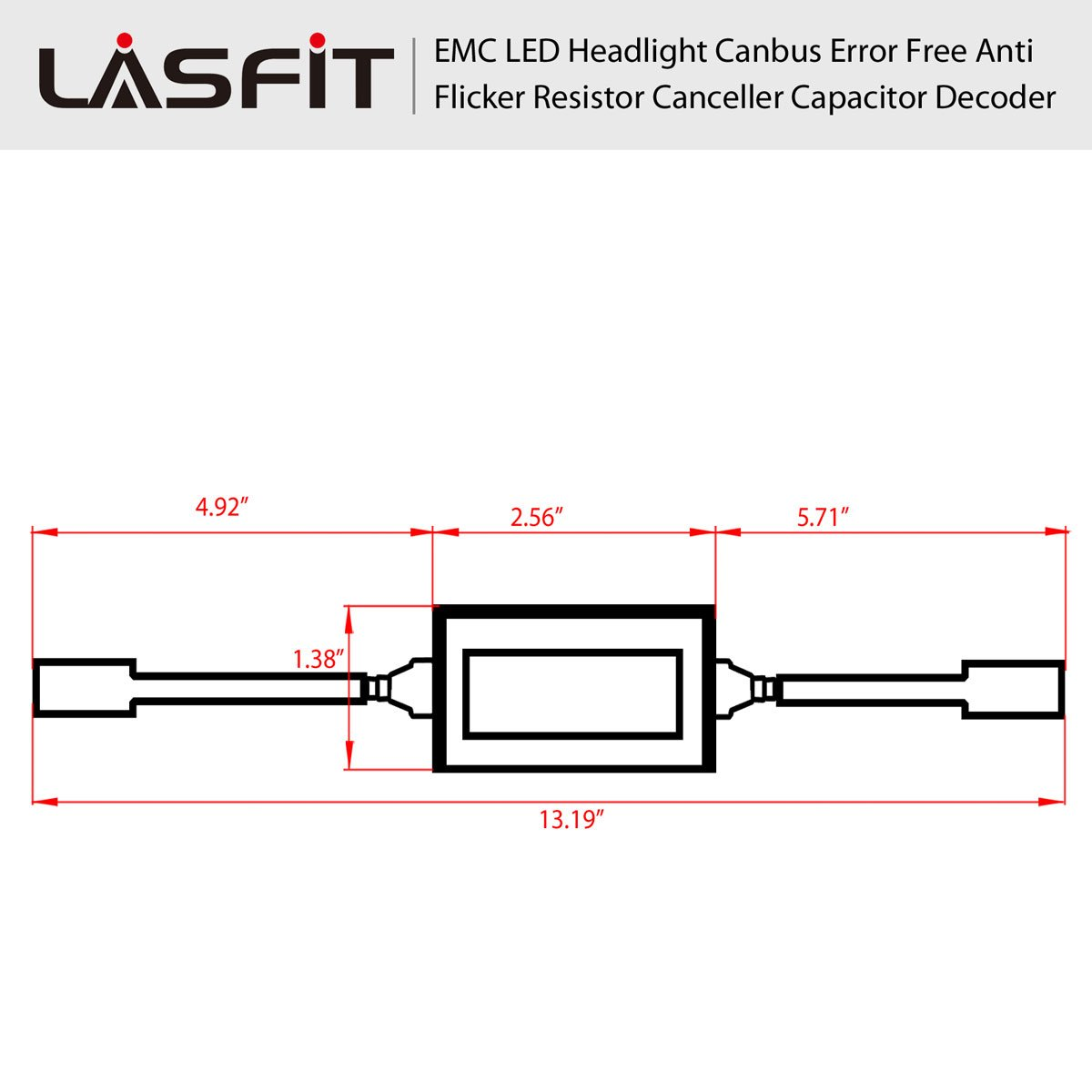 Lasfit Led Kit Computer Warning Canceller Anti Flicker Capacitor Circuit Decoders 1 Pair H13 Automotive
