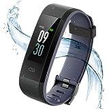Vigorun Fitness Tracker, Orologio Fitness Schermo colorato con cardiofrequenzimetro Bluetooth IP68 Impermeabile Smart Wristband Pedometro con Allarme/Calorie/Monitoraggio del Sonno per Android e iOS