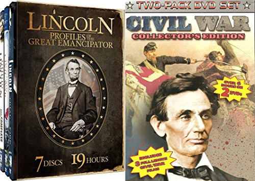 60 Mill Creek Collection (Civil War Collection - Lincoln: Profiles of the Great Emanicpator & Civil War Collector's Edition 9-DVD Bundle)