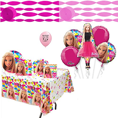 Super Sparkle Barbie Costume (Barbie Sparkle Deluxe Party Supplies and Balloon)