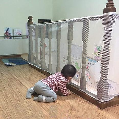 ISOTO Red de Seguridad Malla de Seguiridad Blanca para Protección a Niños y Bebés, para Fijar en las Barandillas de Escaleras y Balcones: Amazon.es: Bebé