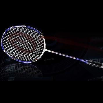 cf352254ff8b1 Lorenlli 1 PC Full Carbon Raquette De Badminton en Liège Léger Liège  Poignée Confortable Sport Match