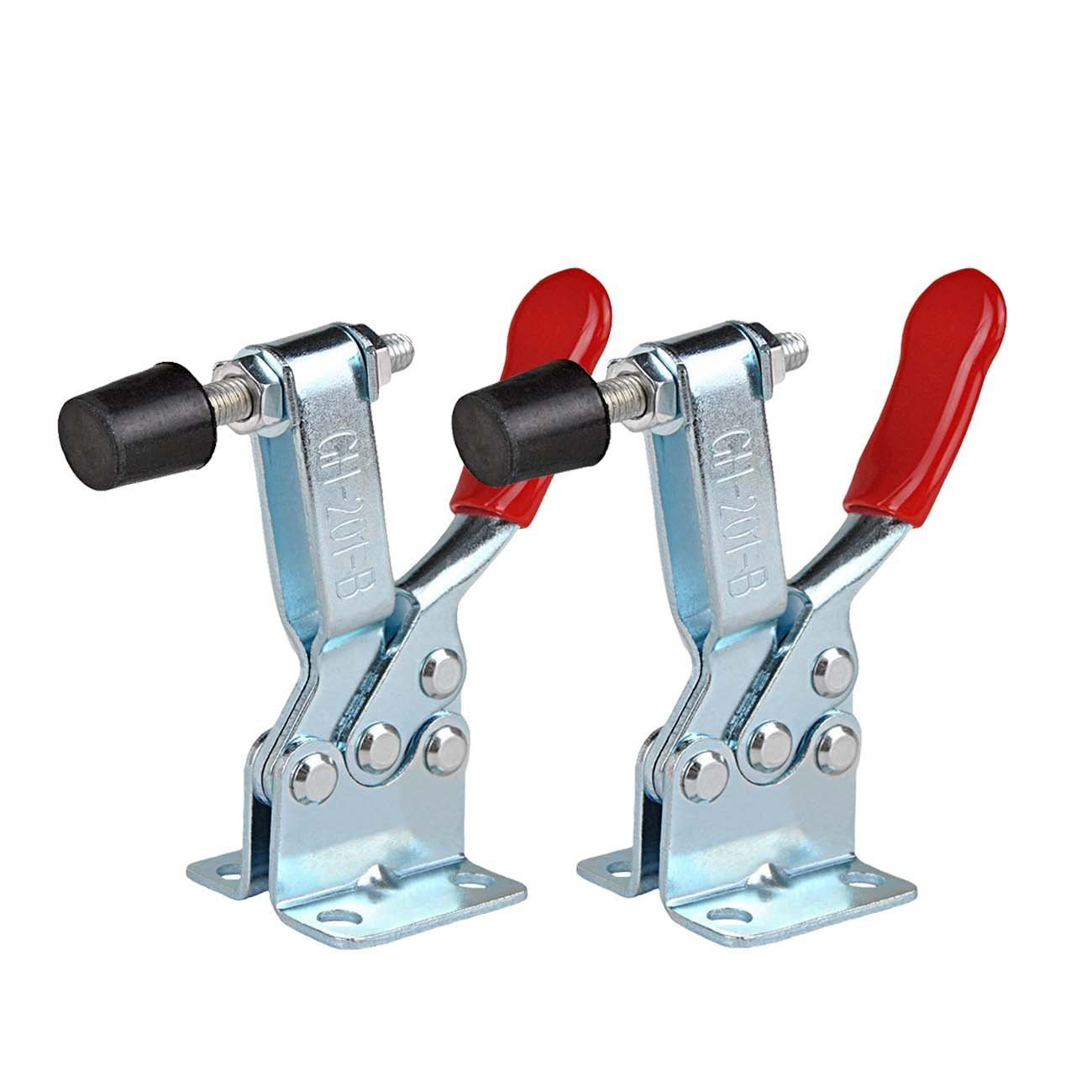 Saim Toggle Clamp Holding Capacity Vertical Quick Release Hand Tool Hold-Down Clamp (2Pcs, 201B 90Kg 198 Lbs) LS17032300132