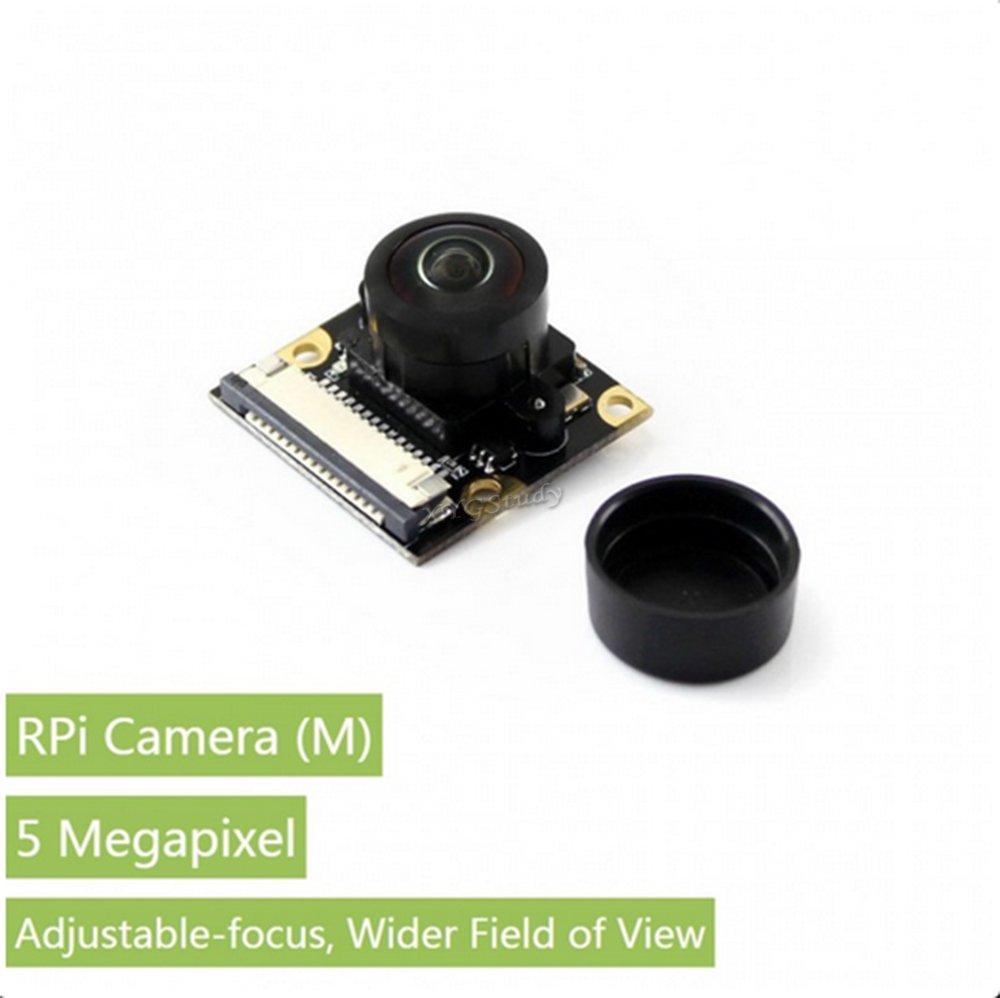 Raspberry-pi-camera-(M) Raspberry Pi Camera Module 5 megapixel OV5647 sensor 1080p Fisheye Lens Webcam Video Record for Raspberry Pi model B B+ A+ Pi 2 3 Zero v1.3 -- RPi Camera (M) @XYGStudy