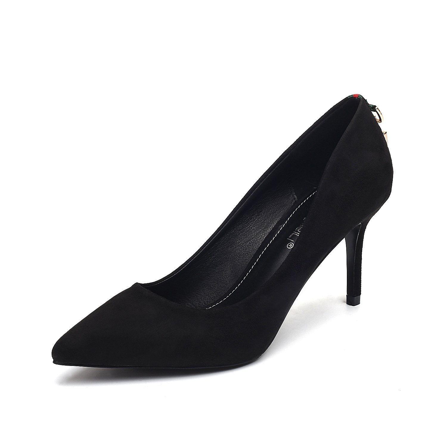 The high-heel shoes tip fine with single shoes night after black trim, Black,39