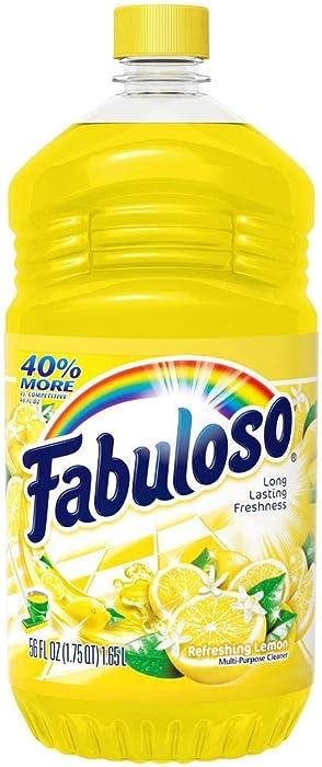 Fabuloso All Purpose Cleaner, Refreshing Lemon, 56 Ounce