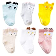 Baby Boy Girl Socks Newborn Animals Non Skid Toddler Cotton Crew Socks 0-36Month