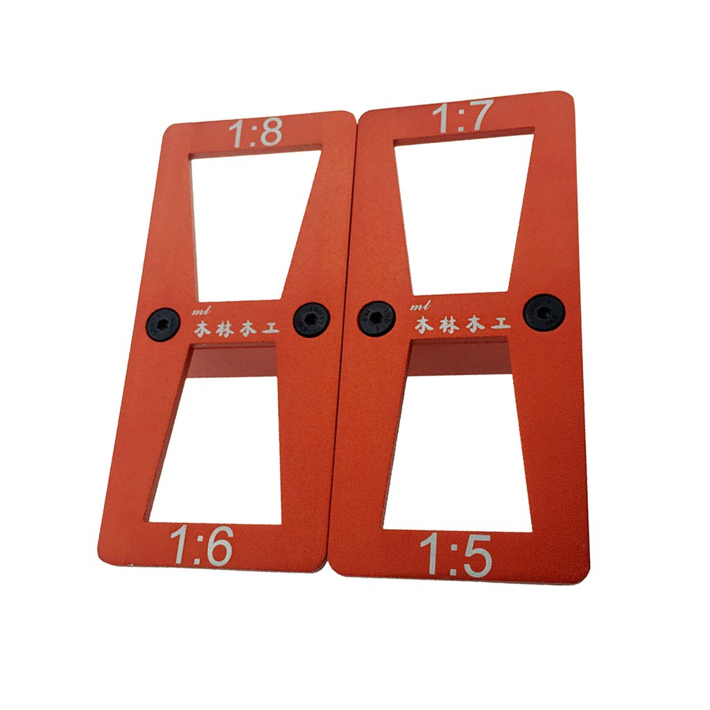 Homyl Metal Dovetail Marker Template 4 Size 1:5 1:6 1:7 1:8 Set Dovetail Template