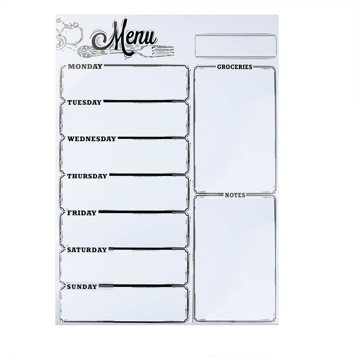 Weekly Board Loftstyle Magnetic Refrigerator Chalkboard Weekly Menu Meal Planner Dry Erase Board For Refrigerator Dinner List Note Schedule Board Shopping List Memo Board 16''X 12''