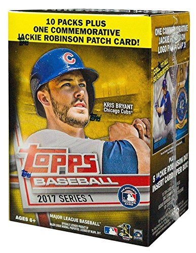 MLB All Teams 2017 Topps Series 1 Baseball Blaster Box, Black, Small (Mlb Box Topps)